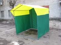 Палатка торговая, разборная «Домик» 1,9 x 1,9 желто-зеленая
