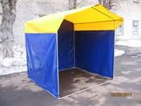 Палатка торговая, разборная «Домик» 2 x 2 из оцинкованной трубы Д 25мм, тент ПВХ