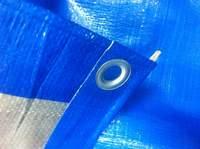 """Тент """"Тарпаулин"""", 10х20, 180 г/м2, синий, шаг люверса 1м."""