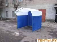 Тент для палатки «Домик» 2 x 2,5 из оцинкованной трубы Д 25мм бело-синий.