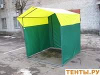 Тент для палатки «Домик» 2,0 x 3,0 из оцинкованной трубы Д 25мм желто-зеленый
