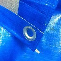 """Тент """"Тарпаулин"""", 5х5, 180 г/м2, синий, шаг люверса 1м."""