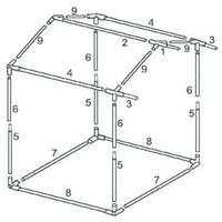 Каркас 1,9 x 1,9 м. для палатки торговой «Домик»