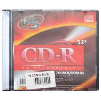 Диск CD-R VS 700Mb 52x Slim Case VSCDRSL01 (ш/к - 20038)