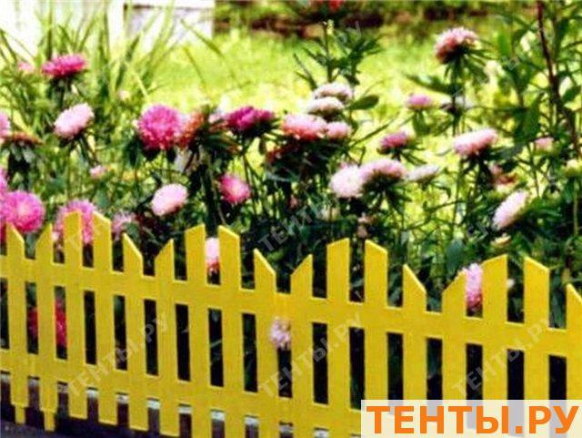 Декоративные заборчики для клумб фото