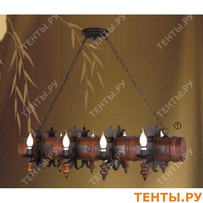 Люстры на цепях из дерева 54